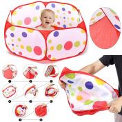 Ball Pit For Kids - Ball Pit Enclosure With Red Zippered Storage Bag for Toddlers Pets - 100cm by 50cm