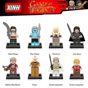 8pcs custom unassembled Game Of Thrones Minifigures Khal Daenerys Jon Snow Cersei Minifigures