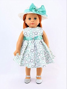 Circle Pattern Dress with Hat -Fits 46cm American Girl Dolls, Madame Alexander, Our Generation, etc. | 46cm Doll Clothes