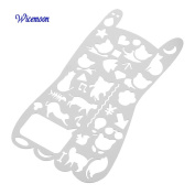 Wicemoon Graphics Stencils Painting Graphics Cute Cat Style Multifunctional Metal Hollow Multi - Purpose Ruler Template