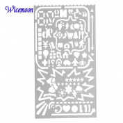 Wicemoon Drawing Ruler Painting Ruler Stencils Multifunctional Metal Models Hollow Multi - Purpose Ruler Template