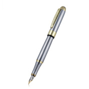 Aibecy Jinhao 250 Fountain Pen 0.5 mm Fine Tip Cartridge Rotary Springform – Stainless Steel