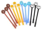 CHIC*MALL Black Ink Pencils Cartoon Cute Animal Design Pen Writing Drawing School Office Stationery Supplies
