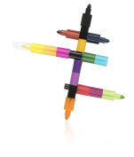 NPW Stackable Colouring Crayons Pen - 15 Assorted Colours Foot Long Crayon Sketch & Colour