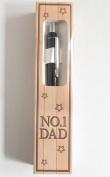 """No. 1 DAD"" Black Ballpoint Pen Boxed"