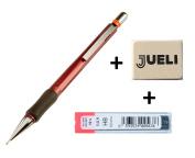 KOH-I-NOOR 5074 0.9 mm Mechanical Pencil Assorted Colours + KOH-I-NOOR Fine Graphite Leads for 0.9 mm Diameter 60mm HB Mechanical Pencil + Eraser Jueli