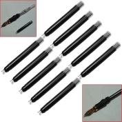 Gemini_mall® 6pcs Fountain Pen Ink Cartridges Refills, Black Ink