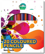 20 Colouring Colour Pencils School Art Crafts Travel Adult Colouring