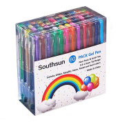 Southsun 60 Gel Pens Set Colouring Pen for Adult Colouring Books, Doodling, Sketching, Writing, Drawing, Crafting