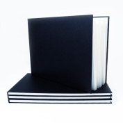 A5 Landscape Hardback Sketchbook - Suitable for Pencils, Inks and Light Washes - Ideal for Students and Professional Artists