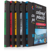 Colore Coloured Pencils Dictionary Edition - 60 Premium Pre-Sharpened Colour Pencil Set For Drawing Colouring Pages - Great Art School Supplies For Kids & Adults Colouring Books - 60 Vibrant Colours