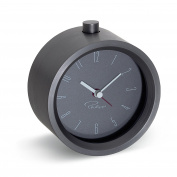 Philippi Tempus Alarm Clock Aluminium, 5 x 9.4 x 9.4 cm, grey