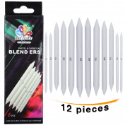 12 X Blending Stumps Art Blender Tools for Sketch Drawing Blending and Smoothing Pastel Charcoal Graphite Coloured Pencils by MEEDEN
