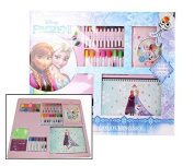 Disney Frozen Drawing & Colouring Art & Craft Set Pencil Pen Markers Sticker Kit