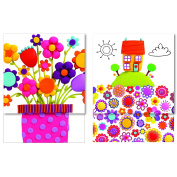 Robert Frederick Mini Magnetic Notebooks in CDU - Marzipan House & Flowers, Assorted