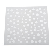 RainBabe Soft Plastic Reusable Spray Paint Mould Template Stencil for DIY Painting Scrapbook