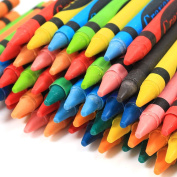 Wax Crayons Pack Assorted Colours Kids Pencil Set School Children Colouring X 72
