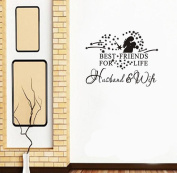 Malloom Heart Best Friends For Life Husband & Wife Wall Decal Quote Art Sticker Decor,58*46cm