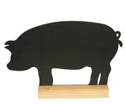 Securit Silhouette Pig Table Chalk Board - Black/Teak