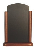 Securit 30x21cm Elegant Lacquered Finish Table Top Chalk Board - Dark Brown