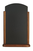 Securit 25x40cm Elegant Lacquered Finish Table Top Chalk Board - Dark Brown