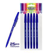Fullmark NEW Ballpoint Pen, Fine Point 0.7mm, Blue, 25pcs