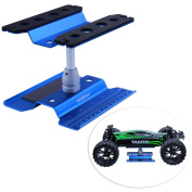 HobbyPark Aluminium Alloy RC Car Work Stand Repair Workstation 360 Degree Rotation Lift Or Lower For 1/8 1/10 Scale Cars Trucks Buggies