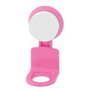 sourcingmap® Plastic Bathroom Shampoo Body Wash Rack Organiser Holder Shelf Suction Cup Pink