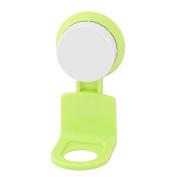 sourcingmap® Plastic Bathroom Shampoo Body Wash Rack Organiser Holder Shelf Suction Cup Green