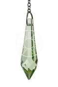 Hanging Crystal Suncatcher/Rainbow Maker with 40mm Icicle Peridot