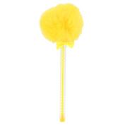 Yellow pom pom ball pen