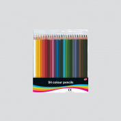 24 Full Length Colouring Pencils. Club Brand. 24 Colours. With Free Sharpener! Children's, Kid's Arts, Crafts, Back To School