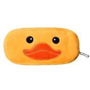 Malloom for Kids Cute Cartoon Pencil Case Plush Large Pen Bag Pocket