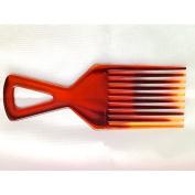 Brown Tortoiseshell Colour Afro Comb Detangler Hair Comb
