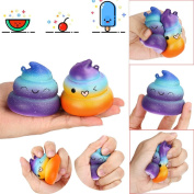 Exquisite Fun Crazy Poo Scented Squishy Charm Slow Rising Simulation Kid Jumbo Toy 2pc - Great gift for Kids & Adults Sensory Play Stress Relief Toy For Autism ADHD ADD OCD