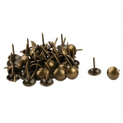 sourcingmap Metal Office Dorm Round Furniture Sofa Desk Hat Tack Nail 48 Pcs Bronze Tone