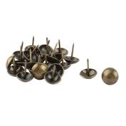 sourcingmap Metal Office Round Furniture Sofa Desk Hat Tack Nail 16mm Dia 24 Pcs Bronze Tone