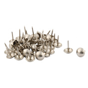 sourcingmap Metal Office Dorm Round Furniture Sofa Bed Hat Tack Nail 48 Pcs Silver Tone
