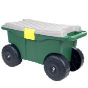 50cm Plastic Garden Storage Cart & Scooter by Pure Garden