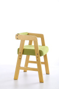 Wooden Height-Adjustable Student Chair for Writing Desk for Study Solid Wood Stool