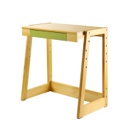 Wooden Height-Adjustable Student Writing Desk for Study and Home Work Station with Drawer