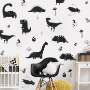 WALL VINYL DECAL DECOR NURSERY. Adhesive Dinosaur stickers for Kids. Baby Nordic Dinosaurs Bedroom Decoration.