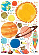 Easy Instant Home Decor Wall Sticker Decal Sticker - HS-PS-60056 Space Travel