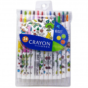 ShenTan Graffiti Children Rotating Crayons 24 Colour Children Colour Painting Pen Student Art Supplies
