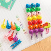 Sansee New 7 Colours Cute Stacker Swap Smile Face Crayons Children Drawing Gift