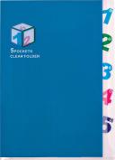 CENTRUM A4 PP Clear Multipart Folder - Assorted
