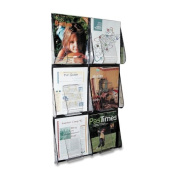 deflect-o 56401 - Multi-Pocket Wall-Mount Literature Systems, 18-1/4w x 2-7/8d x 35-1/4h,Clear/BK-DEF56401 by Deflecto