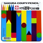 15 colour Sakura Colour Kupi pencil (canned)