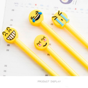 Sansee 4pcs Facial Expression Cute Ballpoint Pen Gel Student Office Stationery Gifts