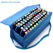 SUNREEK 80 Slots Carrying Marker Case Markers Holder for Paint Marker, Dry Erase Marker, Repair Marker, Colour Highlighter - Fit Markers Pen in Diameter 15mm to 22mm